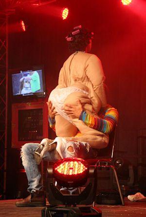 Big mama striptease show