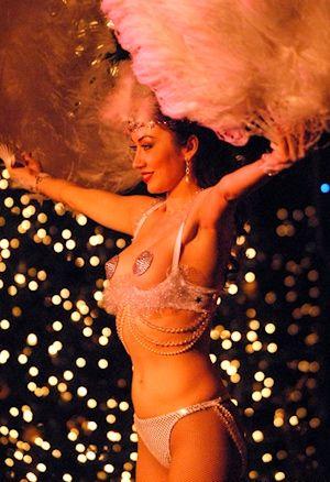 Burlesque danseres