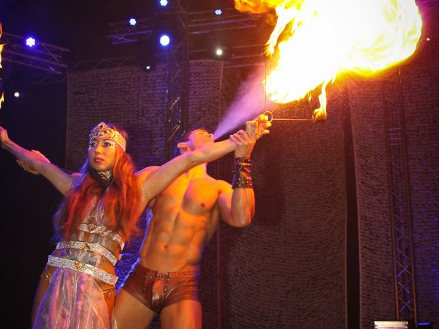 Gladiator striptease show