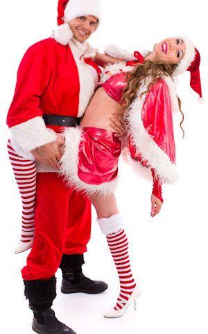 Kerst duo striptease