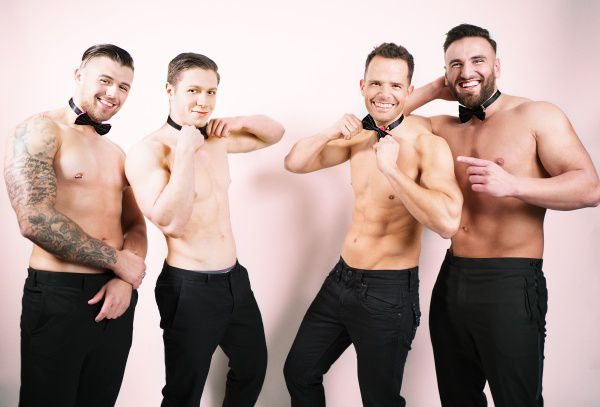 Mannelijke strippers groep