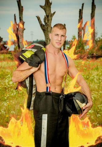 Strippende brandweerman