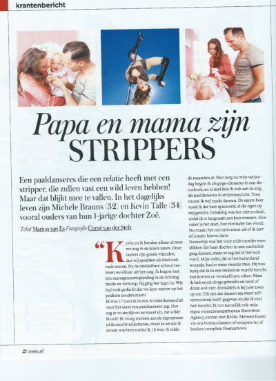 Strippers in Telegraaf VROUW